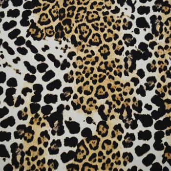 Silk twill fabric panther
