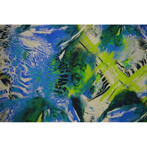 Silk satin fabric abstract panther