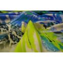 Tissu satin de soie imprimé panthère abstrait