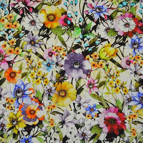 Tissu mousseline de soie imprimé floral