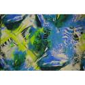 Tissu mousseline de soie imprimé panthère abstrait