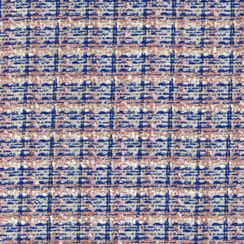 Tweed iridescent woven fabric pink and blue
