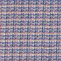 Tissu tissé et irisé effet tweed rose et bleu