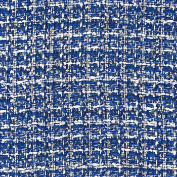 Tweed iridescent woven fabric royal blue