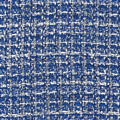 Tissu tissé et irisé effet tweed bleu royal