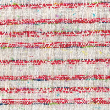 Tweed woven fabric red and white
