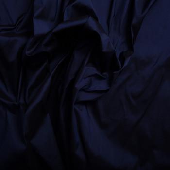 Tissu doupion de soie 100% soie bleu nuit