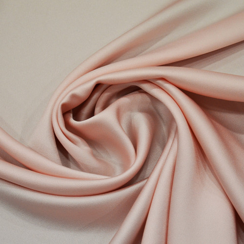 Tissu caddy crêpe envers satin rose