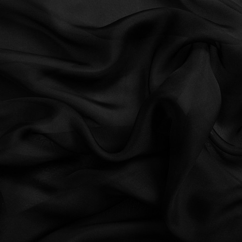 Silk chiffon 100% silk black