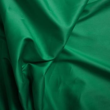 Cotton satin fabric emerald green