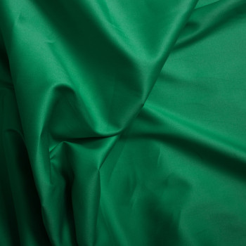 Tissu satin de coton vert émeraude