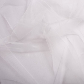 White illusion tulle fabric