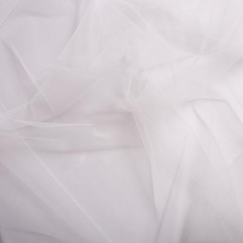 White illusion tulle fabric