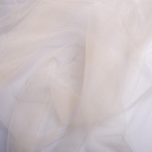 Tissu tulle illusion ivoire