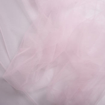 Pale pink illusion tulle fabric