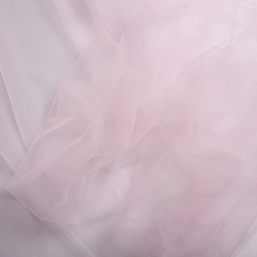 Tissu tulle illusion rose pale