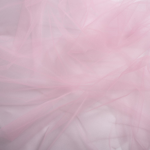 Tissu tulle illusion rose shocking