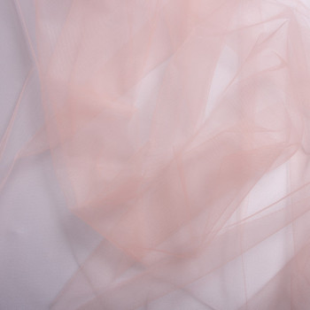 Old pink illusion tulle fabric