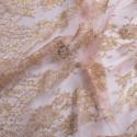 Calais lace laminette powder gold