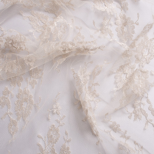 Calais lace laminette white shell