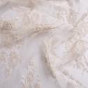 Dentelle de Calais laminette blanc coquille