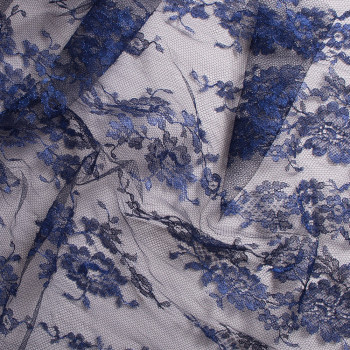 Calais lace laminette night blue