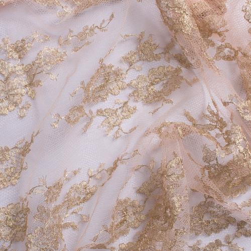 Calais lace laminette pink gold