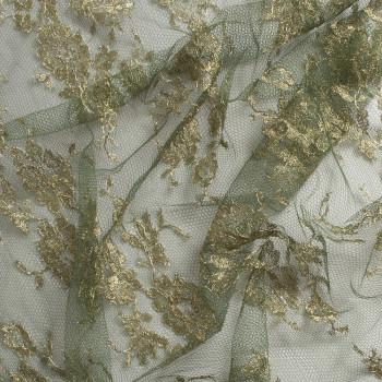 Calais lace laminette khaki green