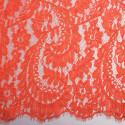 Calais lace embroidered orange