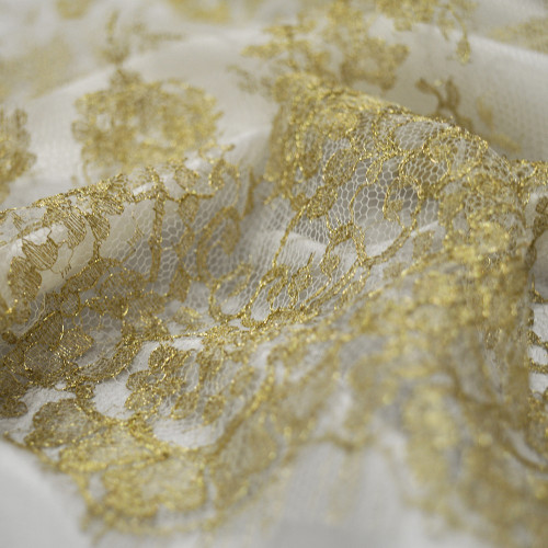 Calais lace laminette ivory gold