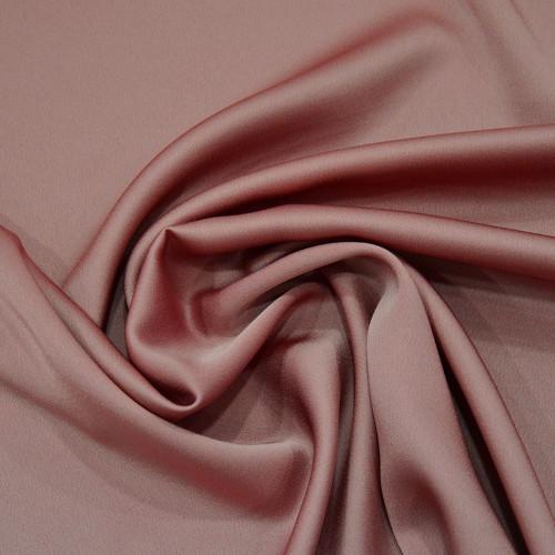 Tissu caddy crêpe envers satin vieux rose