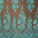 Calais lace turquoise brown
