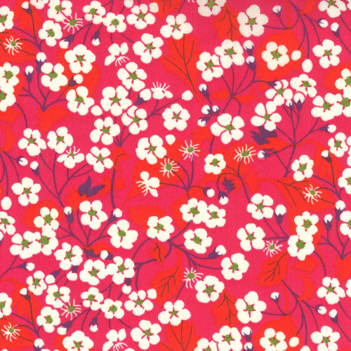 Red Mitsi Liberty fabric