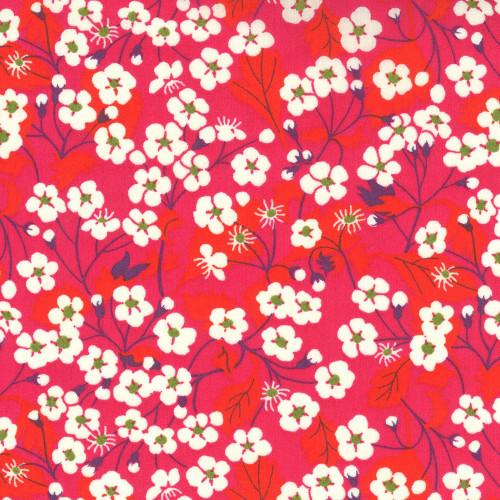 Tissu Liberty Mitsi rouge