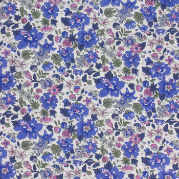 Blue Alphoa Betsy Liberty fabric