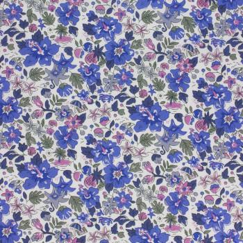 Tissu Liberty Alphoa Betsy bleu