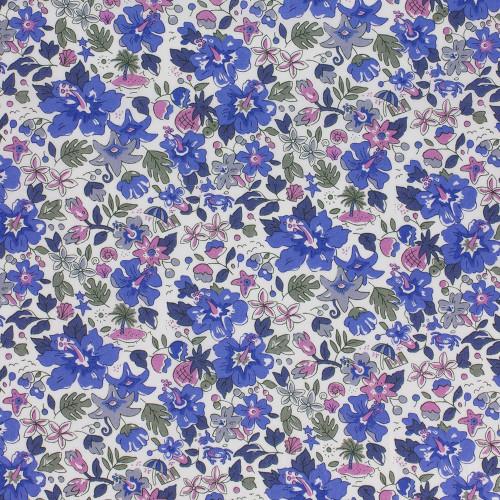 Blue Alphoa Betsy Liberty fabric