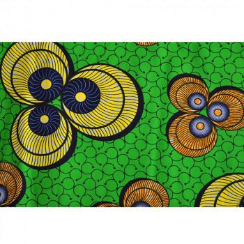 African wax fabric shells yellow green