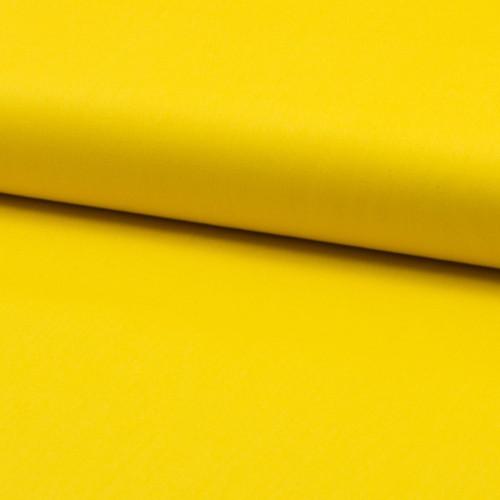 Tissu popeline 100% coton uni jaune