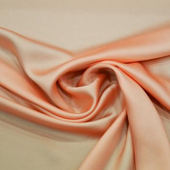 Salmon satin cady crepe fabric