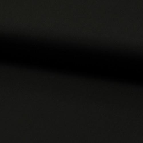 Tissu popeline 100% coton uni noir