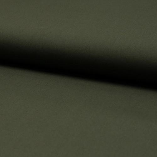 Tissu popeline 100% coton uni vert kaki