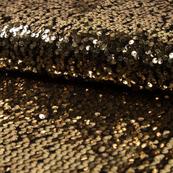 Tissu paillettes cocktail or