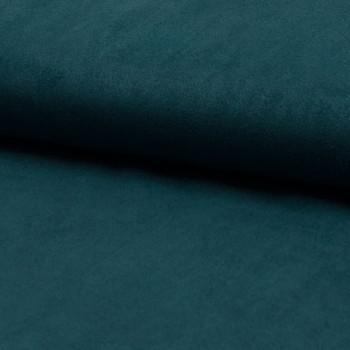 Tissu suédine bleu pétrole