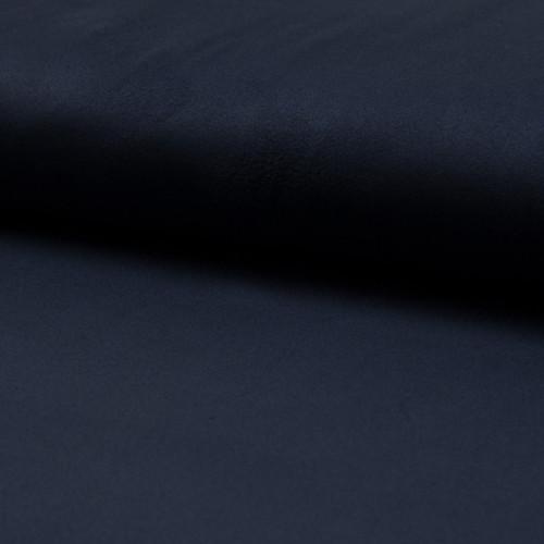Suede fabric dark navy blue