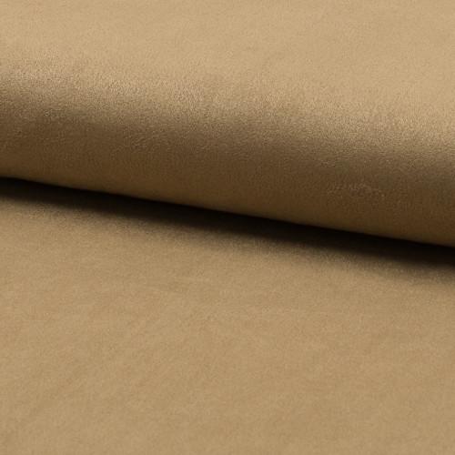 Suede fabric camel