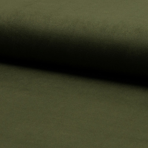 Suede fabric khahki green