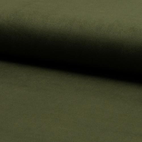 Tissu suédine vert kaki