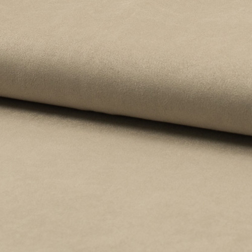 Suede fabric sand beige