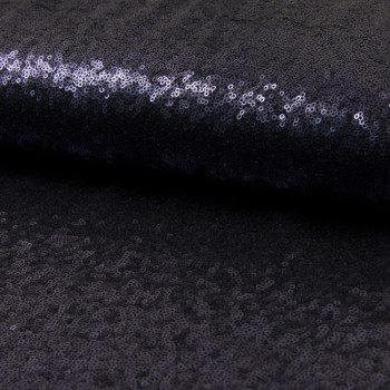 Sequin fabric cocktail navy blue